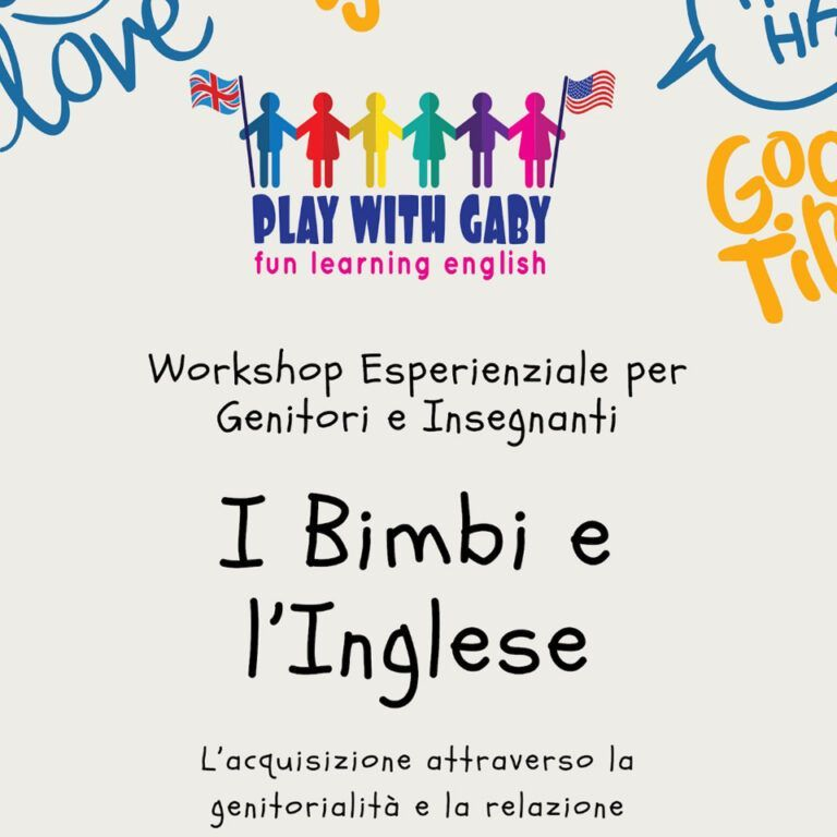 Workshop Esperienziale - Play with Gaby - Fun Learning English Roma