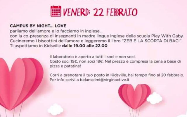 Eventi Febbraio 2019 Play with Gaby - Fun Learning English Roma