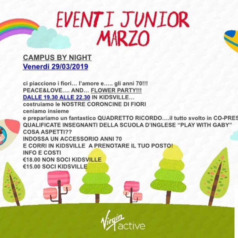 Eventi Junior Marzo - Play with Gaby - Fun Learning English Roma