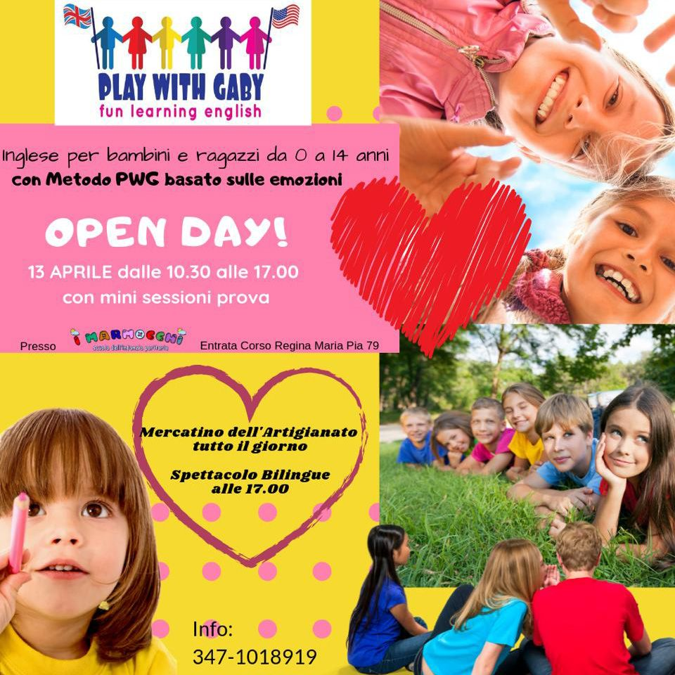 Open Day Aprile 2019 - Play with Gaby - Fun Learning English Roma
